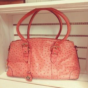 Dooney & Bourke Pink Ostrich Satchel